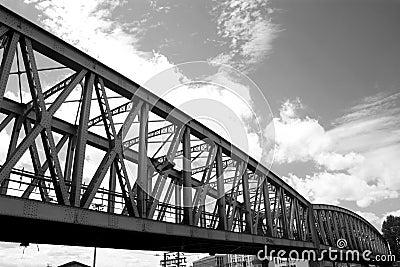 Railway bridge in Paris