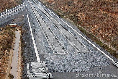 Railway on construction