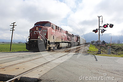 Railway Crossing Editorial Stock Photo
