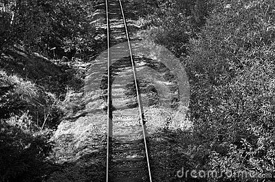 Railway czech B&W