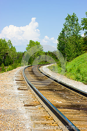 The railway in the forest