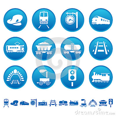 Free Railway Icons Stock Images - 31726904