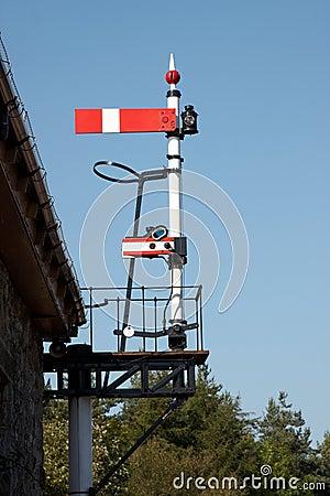 Railway line signal