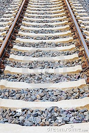 Railway lines closeup