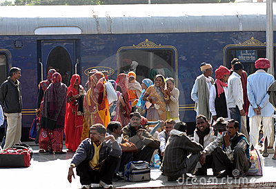 Railway platform Rajastan India Editorial Image