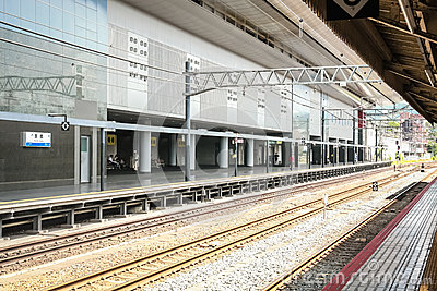 Railway road in kyoto station Editorial Stock Image