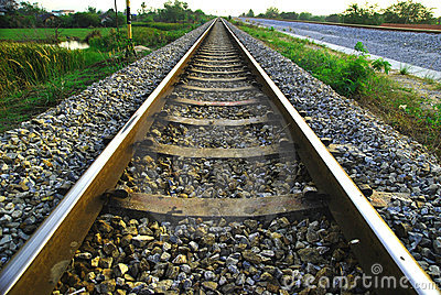 Railway in a rural scene