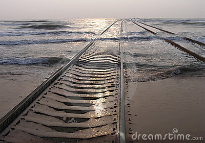 Railway in the sea