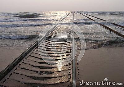 Railway in the sea
