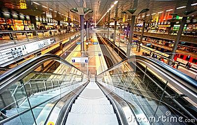 Railway station Berlin Editorial Image