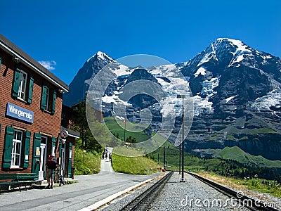 Railway station on Eiger