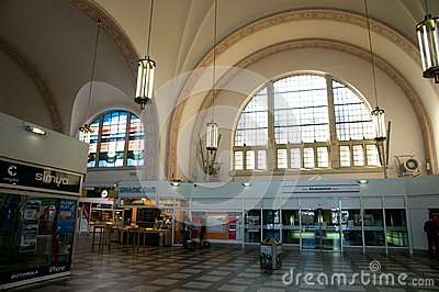 Railway station Krefeld Editorial Image