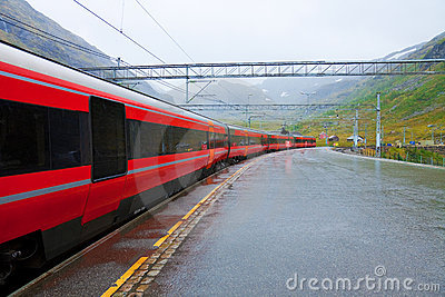 Railway station in Norway