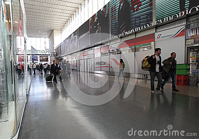 Railway station in Rome, Italy Editorial Stock Image