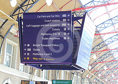 Railway Station Sign