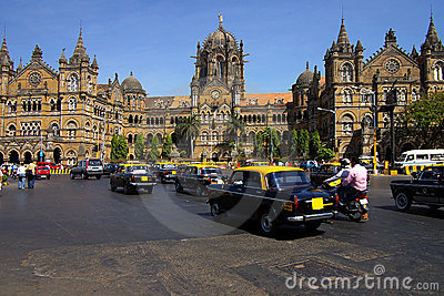 Railway station Victory . Mumbai, India