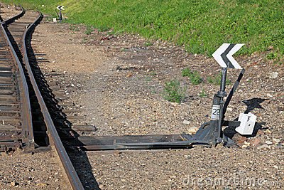 Railway Switch Stock Photo - Image: 15080340