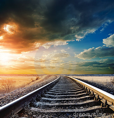 Free Railway To Horizon Stock Photo - 19833580