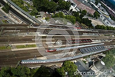 Railway track Editorial Stock Photo