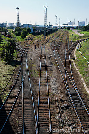 Railway track to the port