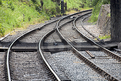 Railway tracks convergence