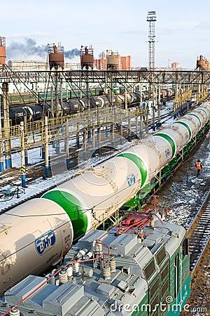 Free Railway Transportation Of Oil Royalty Free Stock Image - 18453476