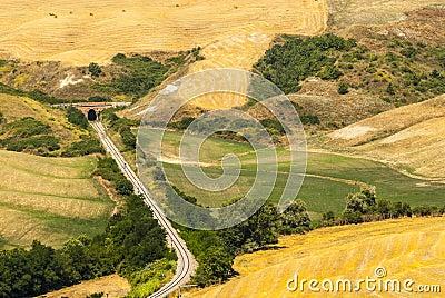 Railway in Tuscany