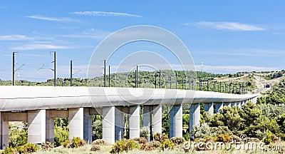 Railway viaduct for TGV