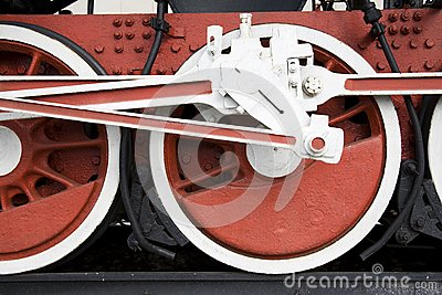 Railway wheels of engine