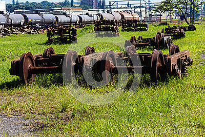 Railway Train Wheels Graveyard