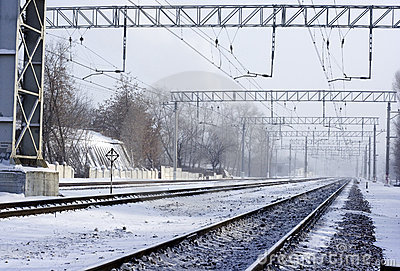 Railway winter