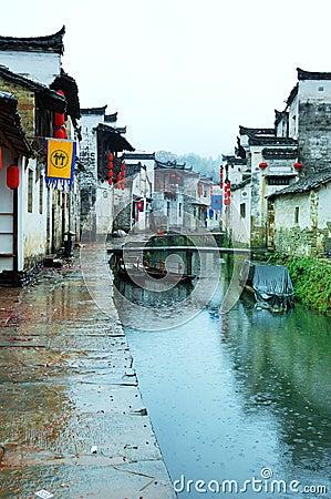 Rain ancient villages
