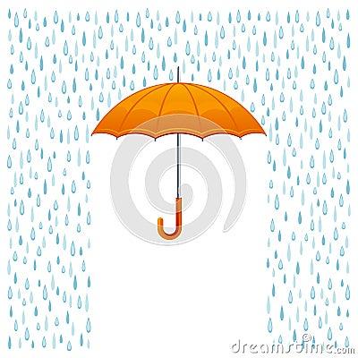 Free Rain And Umbrella Royalty Free Stock Photos - 40136818