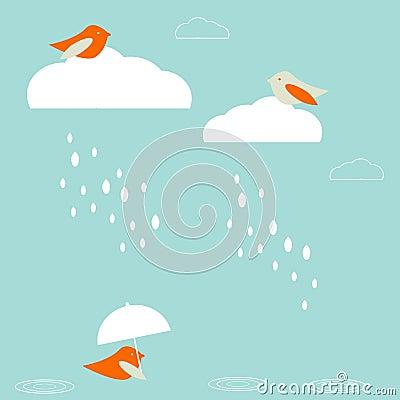 Free Rain Birds Royalty Free Stock Image - 7086466