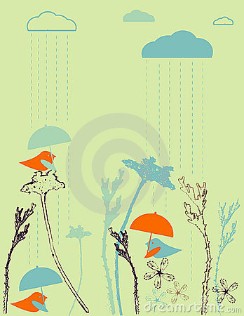 Free Rain Birds Stock Photography - 7121442