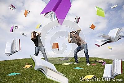 Rain of books