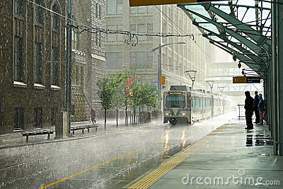 Rain in Calgary Editorial Stock Image