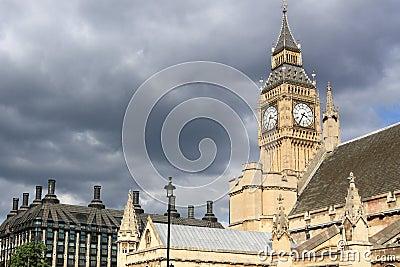 Rain clouds approaching London