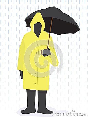 Rain Coat Man