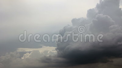 Cumulus on gray cloudscape stock footage