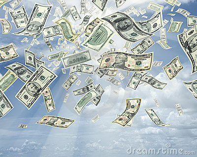 Rain Of Dollars Stock Photos - Image: 1963543