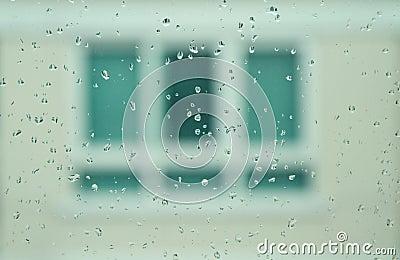 Rain drop on mirror