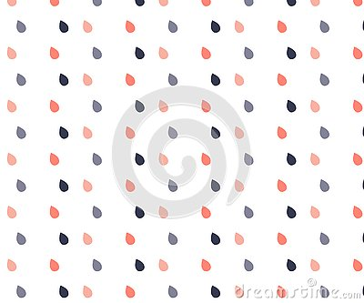 Rain drop pattern seamless pastel color. Abstract water drop for kid fabric print, wallpaper Vector Illustration