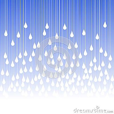 Rain drops and fog greeting card Stock Photo