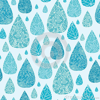 Rain drops textured seamless pattern background