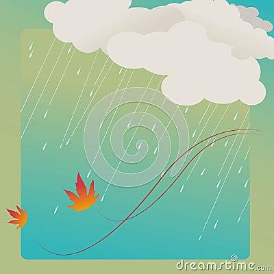 Rain and leafs