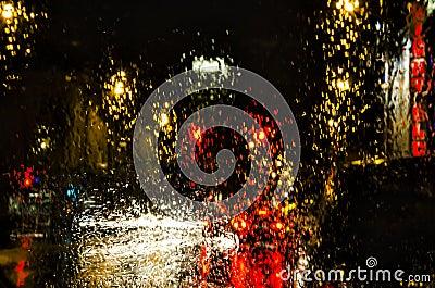 Rain & Lights - Abstract