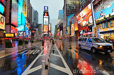 Rain in Manhattan Editorial Stock Image