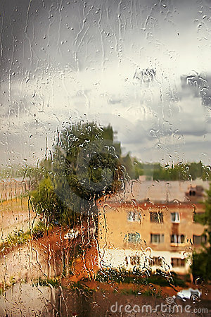 Rain outside the window