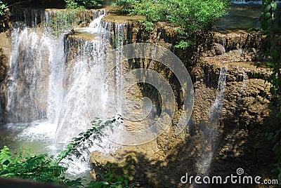 Rainbon on Huaymaekamin waterfall
